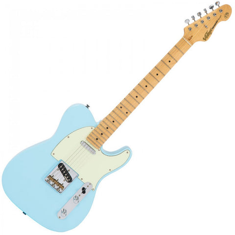 Vintage V75 Reissued Electric Guitar Laguna Blue