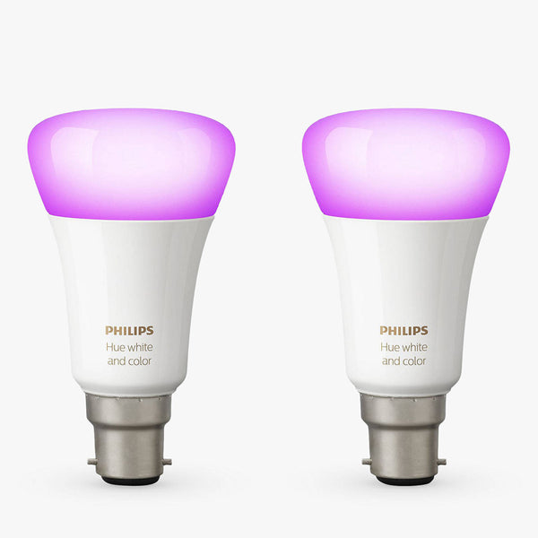 PHILIPS Hue White and Color Ambiance Twin Pack (B22) - 929001257462