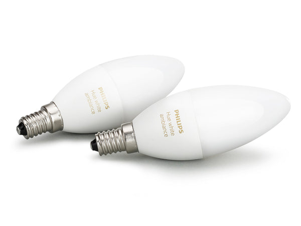 PHILIPS Hue White Ambiance Twin Pack (E14) - 929001301402