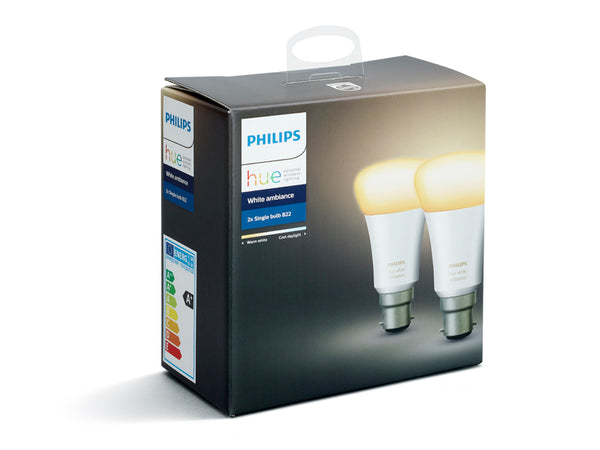 PHILIPS Hue White Ambiance Bulb Twin Pack (B22) - 929001200261