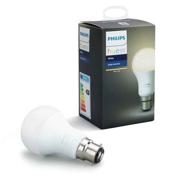 PHILIPS Hue White Smart Bulb (B22) - 929001137101