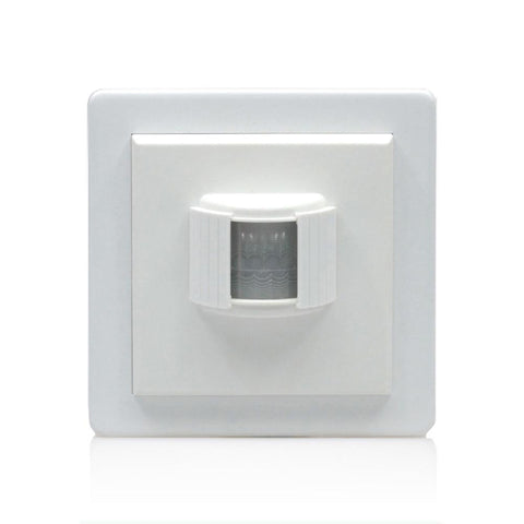 Lightwave Wall Mounted PIR Sensor White Metal - LW107WH