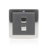 Lightwave 1 Gang Wirefree Switch Stainless Steel - LW201SS