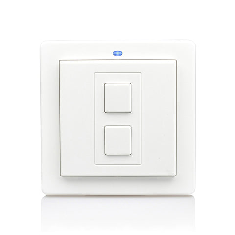 Lightwave 1 Gang Wireless Smart Switch White Metal - LW201WH
