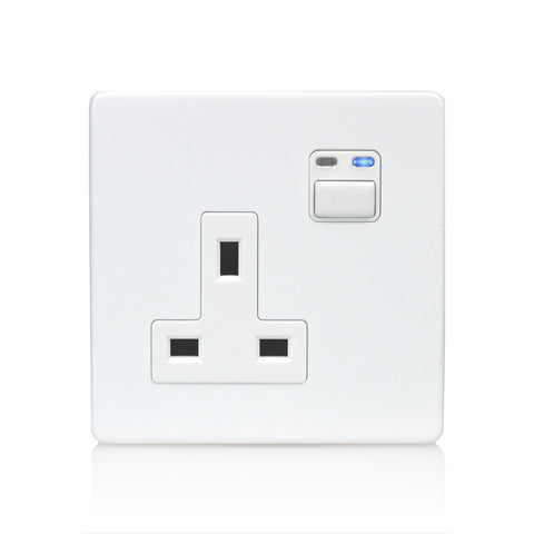 Lightwave 1 Gang 13amp Socket White Metal - LW260WH