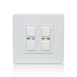Lightwave 2 Gang Smart Dimmer 250W White Metal - LW420WH