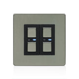 Lightwave 2 Gang Smart Dimmer 250W Stainless Steel - LW420SS