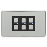 Lightwave 3 Gang Smart Dimmer 210W Stainless Steel - LW430SS