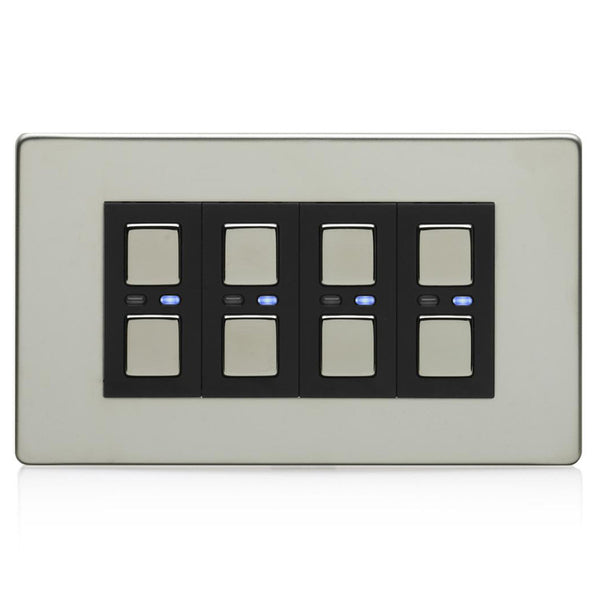 Lightwave 4 Gang Smart Dimmer 210W Stainless Steel - LW440SS