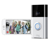 Ring Video Doorbell 1 Satin Nickel 8VR1S5-SEU0