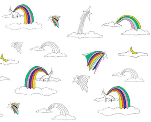 RAINBOWS AND UNICORNS  DUVAR KAĞIDI Illustration by Deniz Yeğin İkiışık