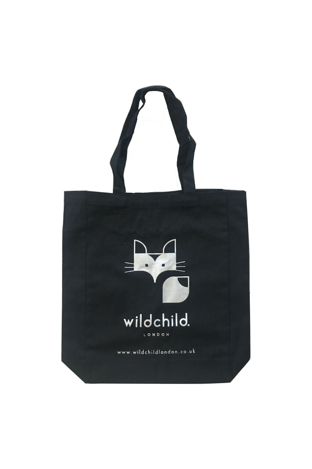 reusable high quality black & silver tote bag