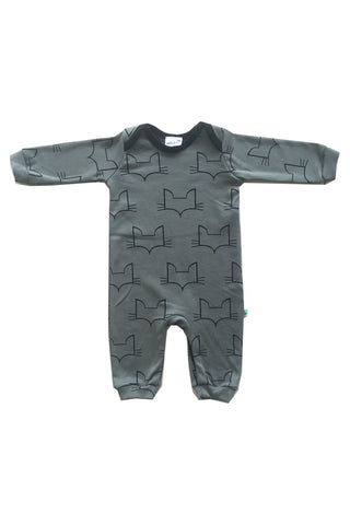 100% organic cotton baby romper. made in Britain using chemical free inks.