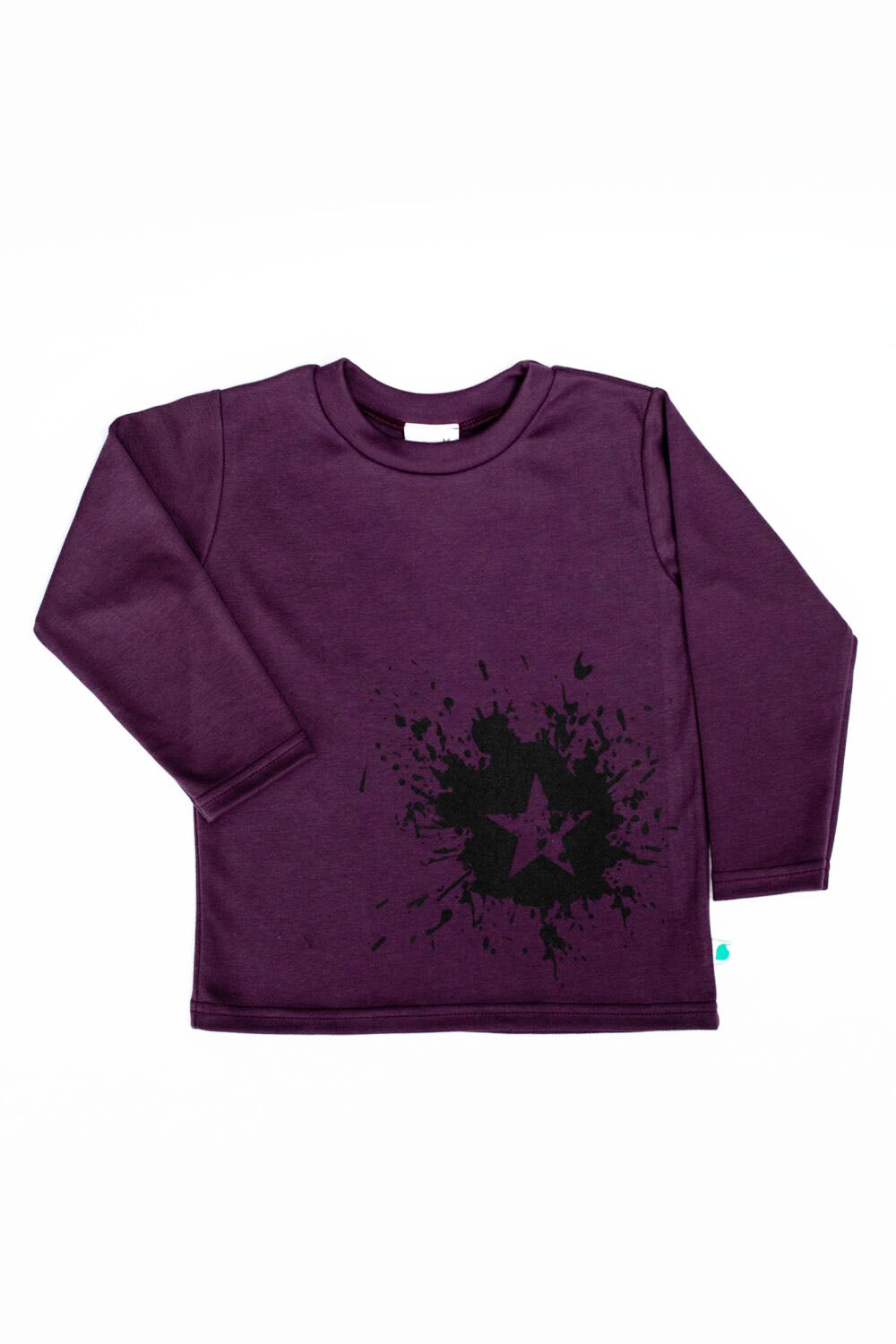 100% cotton, unisex punchy plum long sleeve t-shirt. Made and designed in Britain using chemical free inks.
