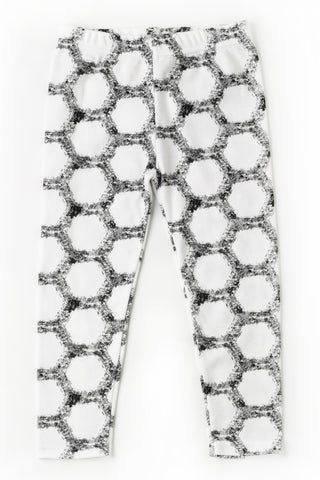 Hexagon Design Leggings, Gender Neutral and Made in Britain