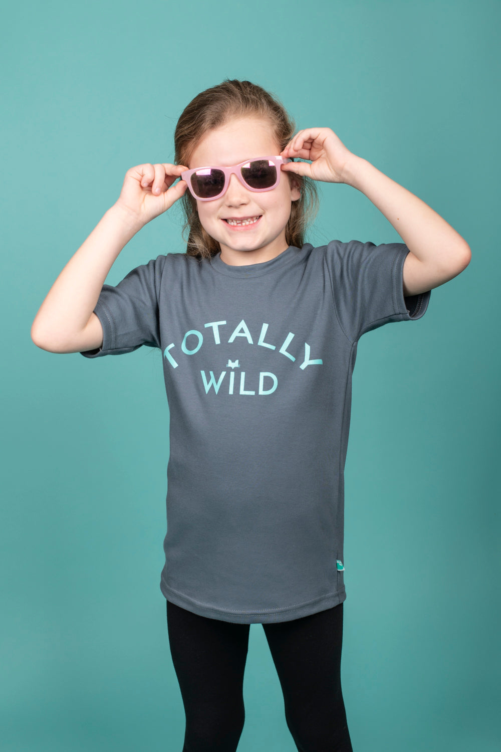 Organic Cotton 'Totally Wild' slogan T-shirt - Grey
