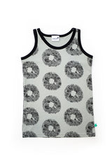 Tank Top Grey all over print design