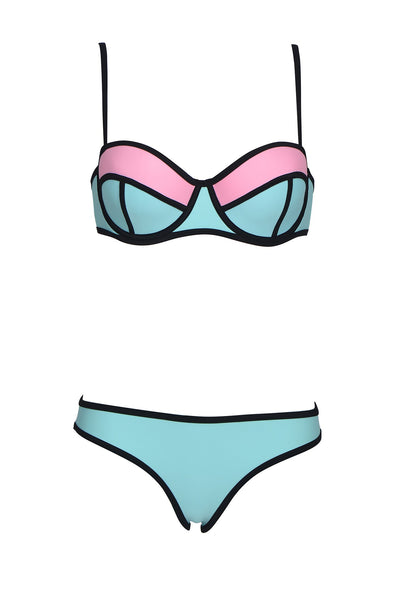 OTILLY AROA BLUE BLUSH BIKINI