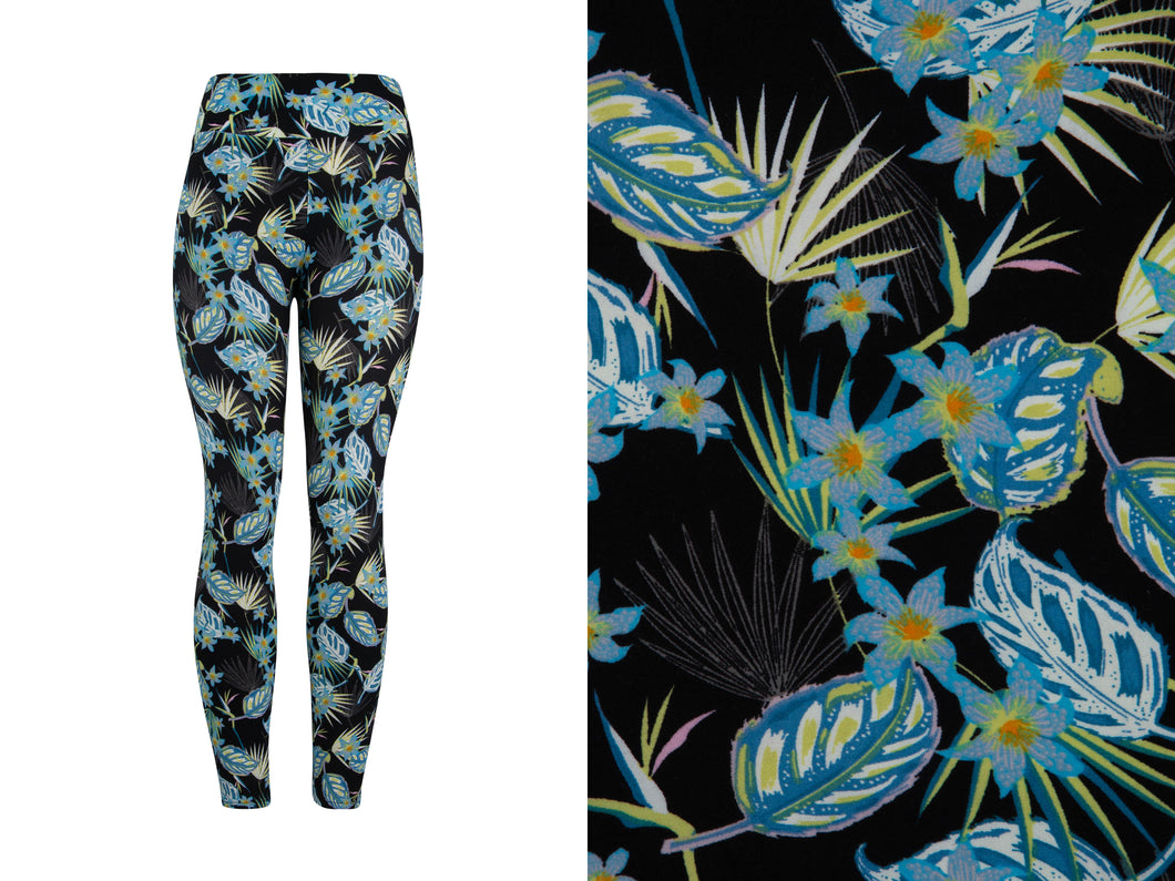 Natopia Kids Super Soft Tropical Leaves Leggings