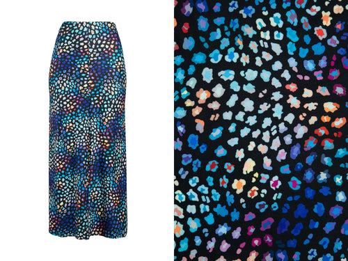 Natopia Super Soft Cutest Leopard Maxi Skirt One Size Fits 8-10