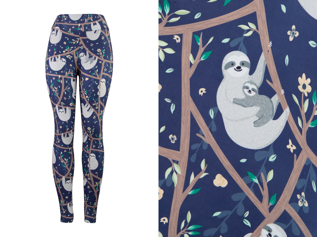 Natopia Deluxe Sloth Styling Leggings Curvy Plus Size Fits 16-22