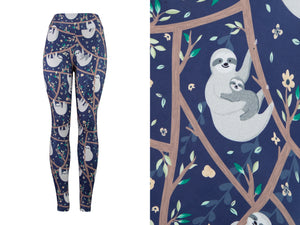 Natopia Deluxe Sloth Styling Leggings Kids Size L/XL (7-12 Years)