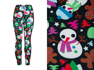Natopia Ultimate Frosty and Friends Leggings One Size Fits 8-14