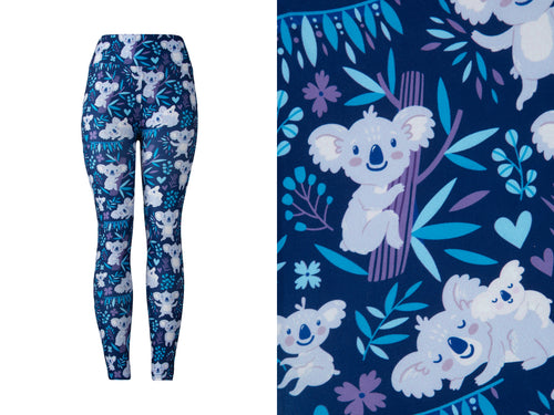 Natopia Ultimate How Much Can a Koala Bear Leggings Curvy Plus Size Fits Size 16-22