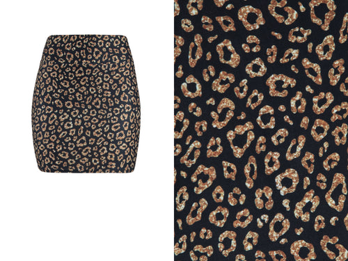 Natopia Lovely Leopard Mini Skirt One Size Fits 8-14