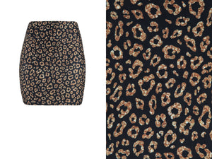 Natopia Lovely Leopard Mini Skirt Extra Curvy Plus Size Fits 22-28