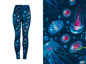 Natopia Ultimate Friendly Jellyfish Leggings Curvy Plus Size Fits Size 16-22