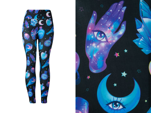 Natopia Ultimate Crystals and Potions Leggings Curvy Plus Size Fits Size 16-22