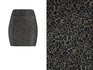 Natopia Little Leopard Mini Skirt Curvy Plus Size Fits 16-22