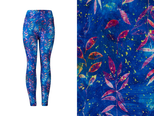 Natopia Ultimate Electric Autumn Blues Leggings One Size Fits 8-14