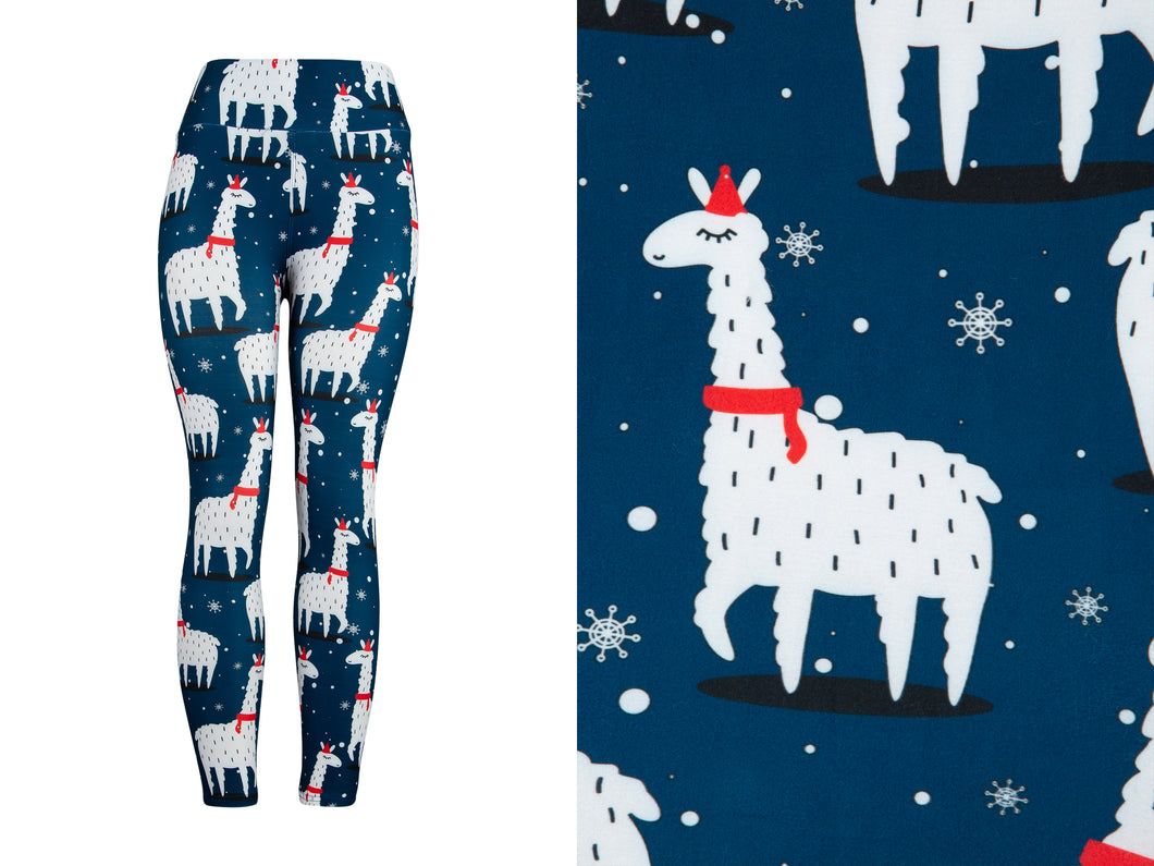 Natopia Ultimate Christmas LLama Leggings One Size Fits 8-14