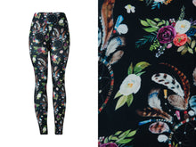 Natopia Ultimate Flowers and Dreamcatchers Leggings Curvy Plus Size Fits Size 16-22