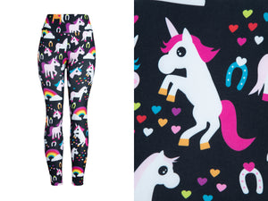 Natopia Ultimate Luckiest Unicorn Leggings Curvy Plus Size Fits Size 16-22