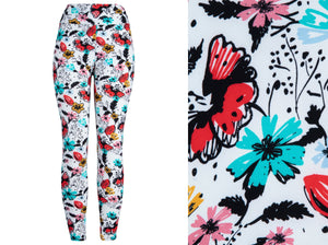 Natopia Super Soft Butterfly Garden Leggings One Size Fits 8-14