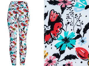 Natopia Super Soft Butterfly Garden Leggings Plus Size Fitz 16-22