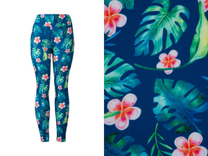 Natopia Ultimate Tropical Island Dreams Leggings Curvy Plus Size Fits Size 16-22