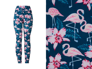 Natopia Ultimate Frolicking Flamingos Leggings Curvy Plus Size Fits Size 16-22