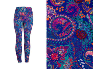 Natopia Ultimate On Point Paisley Leggings Curvy Plus Size Fits 16-22