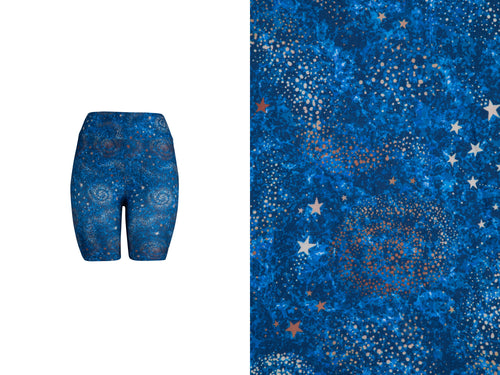 Natopia Super Soft Basic Starry Blue Shorts One Size Fits 8-14