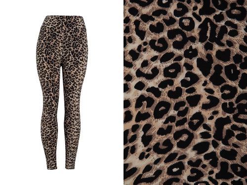 Natopia Super Soft Wild Nights Leopard Print Leggings One Size fits Size 8-14