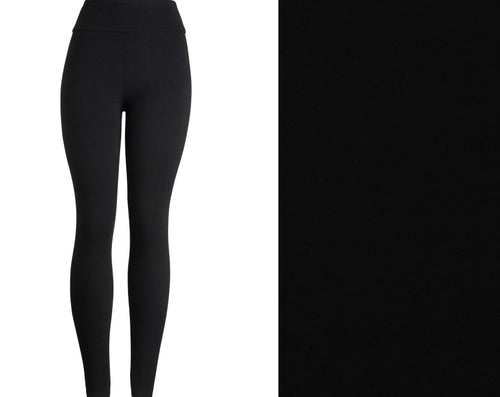 Natopia Deluxe Basic Black Leggings One Size Fits 8-14 MUST HAVE!
