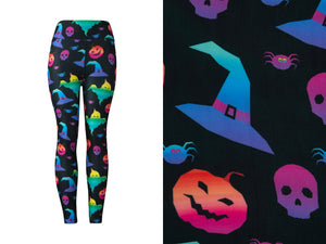 Natopia Ultimate Happiest Halloween Leggings Curvy Plus Size Fits Size 16-22