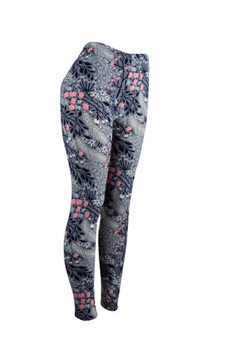 Blossoms and Ferns Natopia Leggings One Size Fits Size 8-14