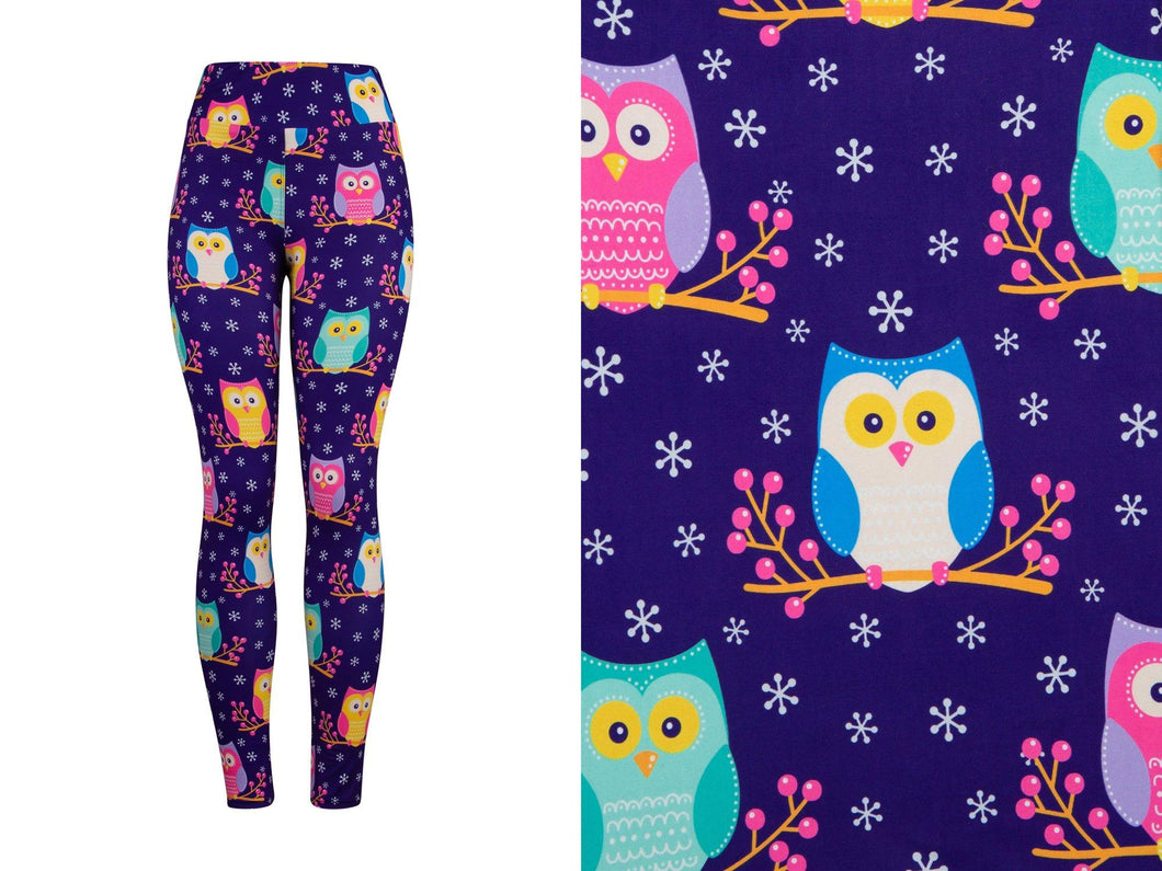 Natopia Deluxe All The Owls Leggings One Size Fits 8-14