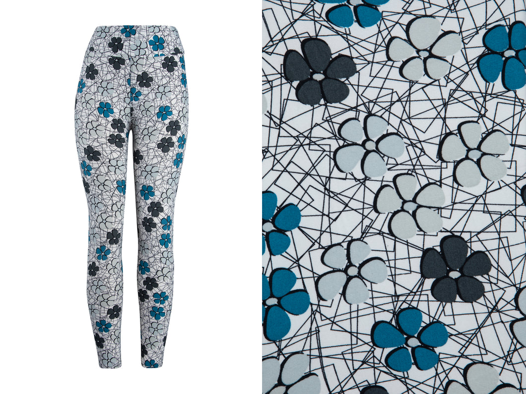 Natopia Super Soft Little Flowers Leggings Extra Curvy Fits 22-28