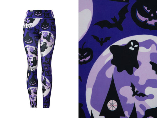 Natopia Ultimate The Haunted House Leggings Curvy Plus Size Fits Size 16-22